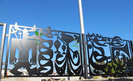 Bartalos Illustration Mission Playground Fence